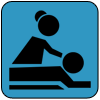 massage therapy icon for blossom birth and wellness center resource page in phoenix arizona and surronding areas copy